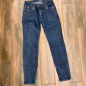 MissSIXTY Denim Skinny Jeans w/ Zippers @ Ankle